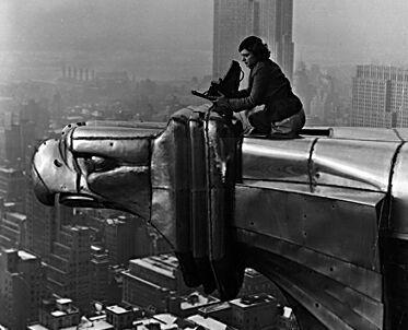 Worker on Chrysler Building